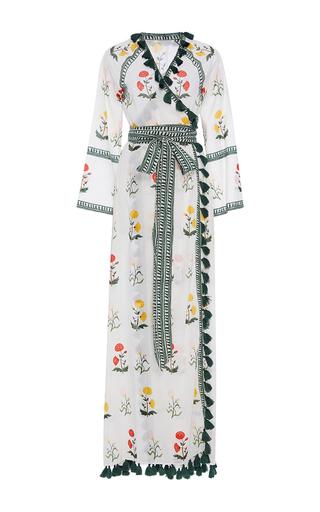 Medium rhode resort print stella floral wrap tassel dress