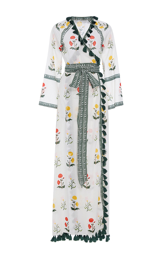 Medium rhode resort print stella floral wrap tassel dress