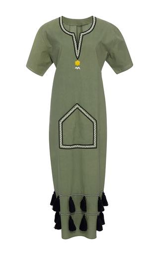 Medium rhode resort green aviv tassel hem dress