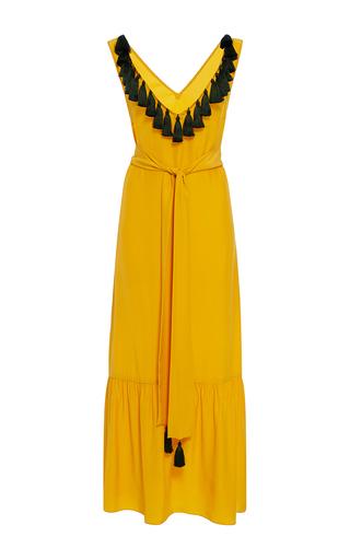 Medium rhode resort yellow jax tassel ruffle dress