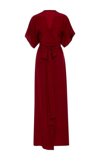 Medium rhode resort red jasper solid wrap dress