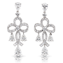 Medium faberge gold soie blanche earrings