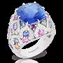 Medium faberge gold delices d ete blue sapphire ring 2