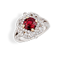 Medium faberge gold xenia ruby ring