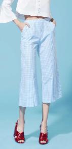 Medium piamita plaid harley cropped flare pants