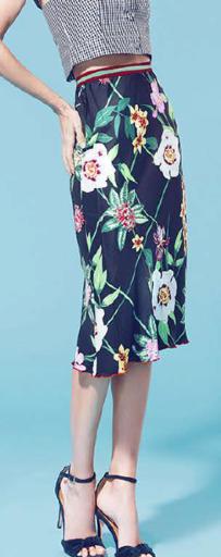 Medium piamita floral virginia high waist floral skirt
