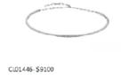 Medium jack vartanian silver white gold diamond choker