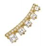 Medium jemma wynne gold prive graduating diamond ear cuff