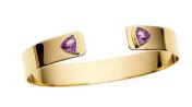 Medium jemma wynne purple ooak open cuff with bezel set purple sapphire trillions