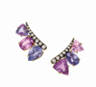 Medium jemma wynne purple ldt edition multi shape pink and purple sapphire ear climbers