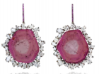 Medium kimberly mcdonald pink pink tourmaline slice earrings