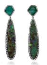 Medium kimberly mcdonald green black opal earrings
