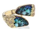 Medium kimberly mcdonald blue boulder opal and brown diamond cuff