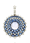 Medium nam cho blue sunburst convertible pin pendant