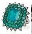 Medium nam cho green colombian emerald ring