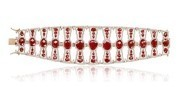 Medium sutra red ruby and diamond bracelet