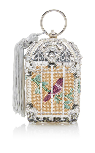 Medium judith leiber multi birdcage clutch