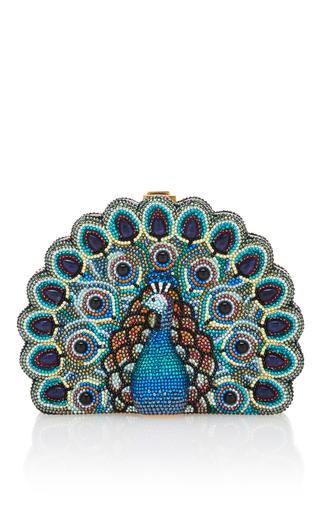 Medium judith leiber multi peacock clutch