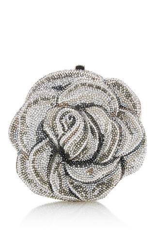Medium judith leiber silver new rose clutch 2
