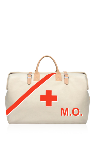 Medium preppi ivory m onogrammable the prepster 3 day luxe survival kit