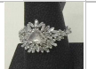 Medium suzanne kalan silver ooak white gold diamond baguette ring