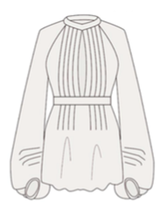 Medium talitha white bianca blouson sleeve top