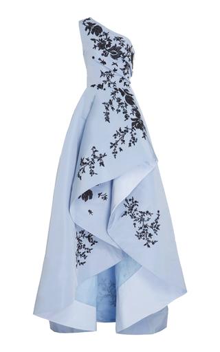 Medium monique lhuillier blue one shoulder asymetrical gown
