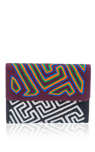 Medium mola sasa burgundy nacrus tuma clutch