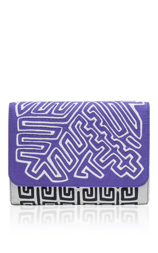 Medium mola sasa white saptimali clutch