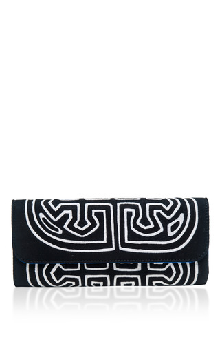 Medium mola sasa black chichiq clutch