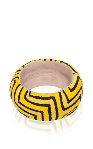 Medium mola sasa yellow takua bangle 3
