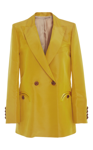 Medium blaze yellow shamrock double breasted blazer