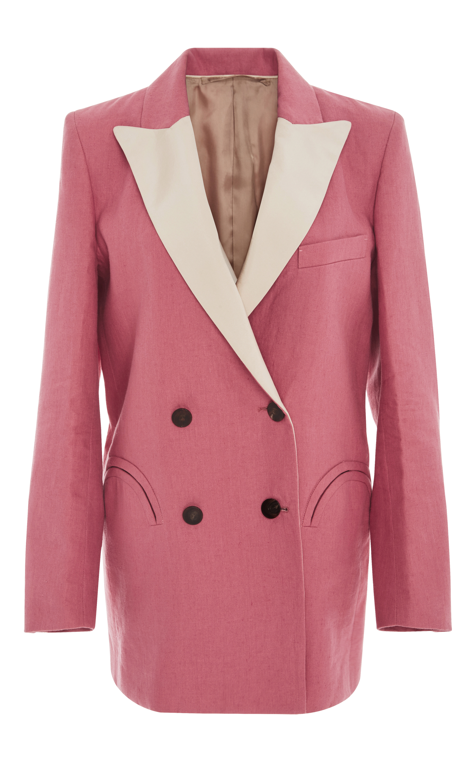 Blazé Milano MID-DAY SUN DOUBLE BREASTED CONTRAST LAPEL BLAZER