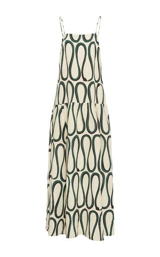 Medium whit tan cate snake print dress