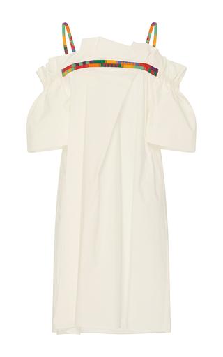 Medium whit white frida off the shoulder mini dress