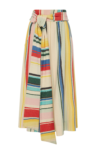 Medium whit multi kimani multicolor stripe skirt