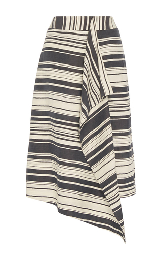 Medium whit blue phoebe serepe stripe skirt