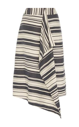Medium whit blue phoebe serepe stripe skirt