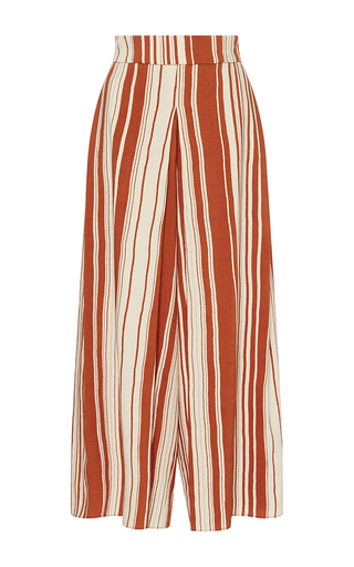 Medium whit brown sun serepe stripe pants