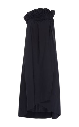 Medium whit blue willow ruffle dress