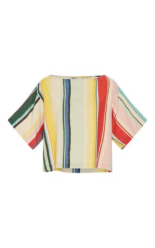 Medium whit multi neil multicolor stripe tee