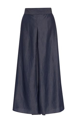 Medium whit blue sun wide leg pants