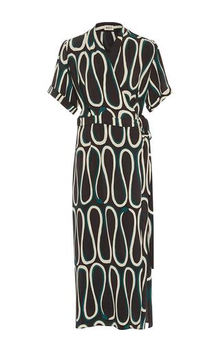 Medium whit black bette snake print dress