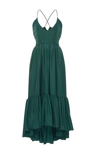 Medium whit green greer ruffle dress