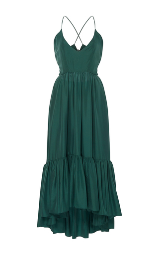 Medium whit green greer ruffle dress