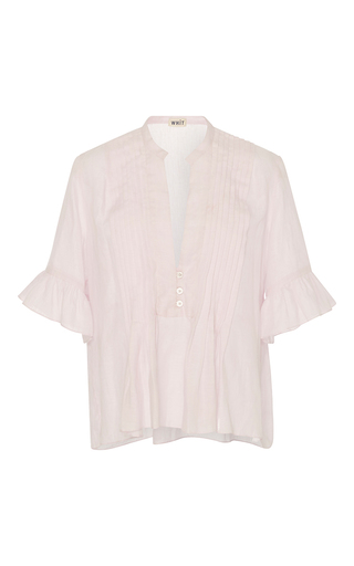 Medium whit pink isa petal ruffle top