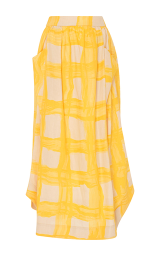 Medium whit yellow long wing skirt