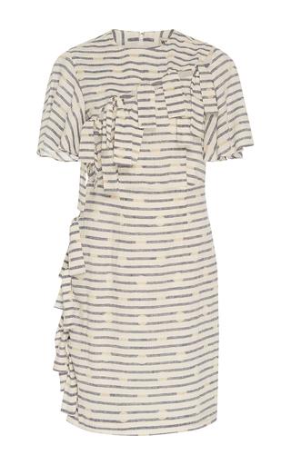 Medium whit white tie front dress