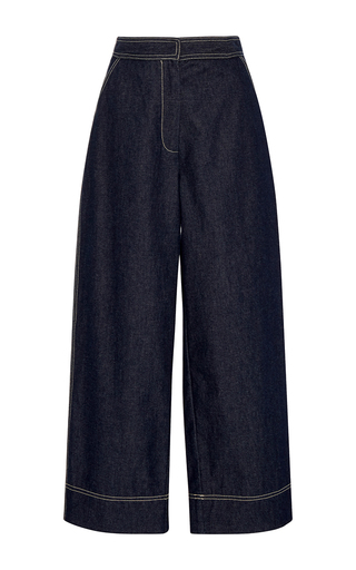 Medium whit blue wide leg johnny jeans