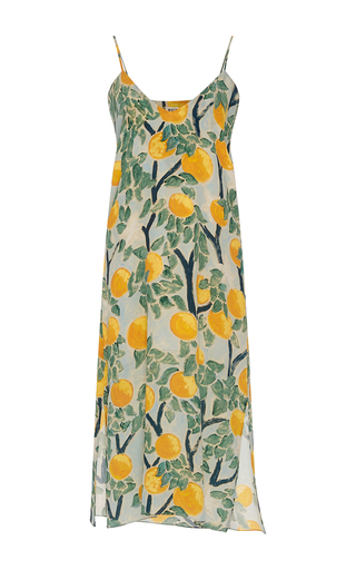 Medium whit multi grove print slip dress